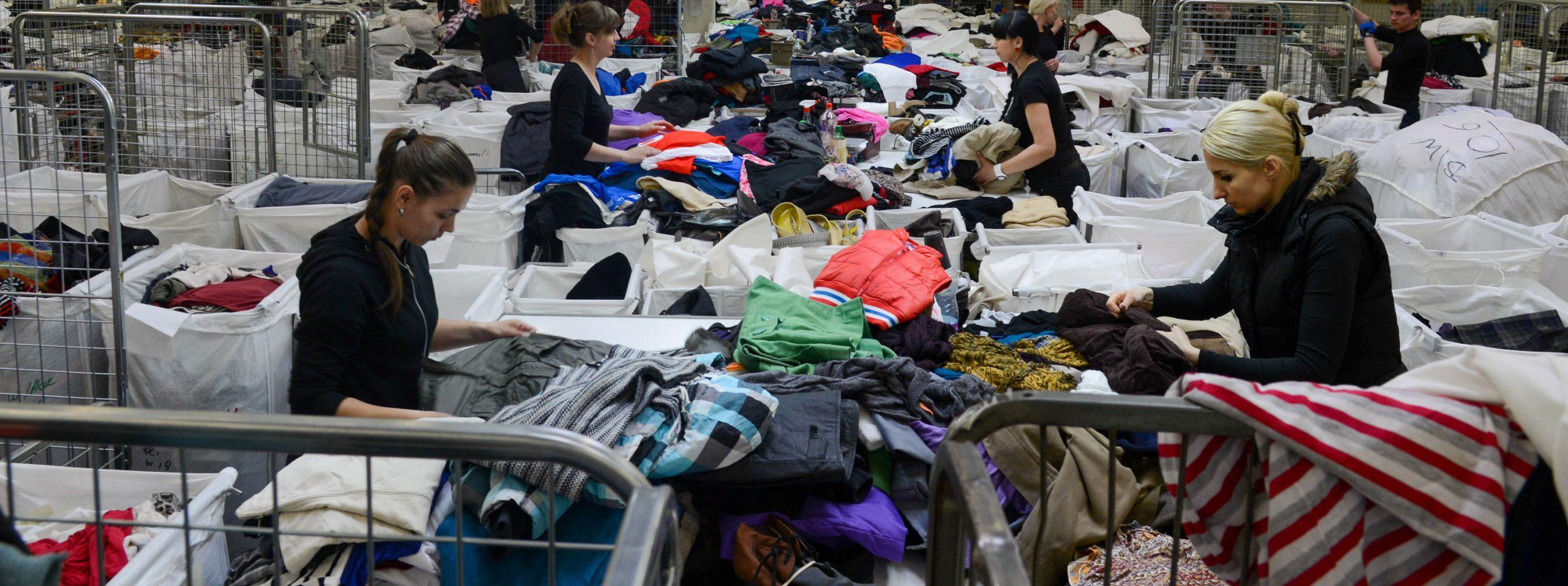 Sorteringsanlegg for tekstiler i Lithauen