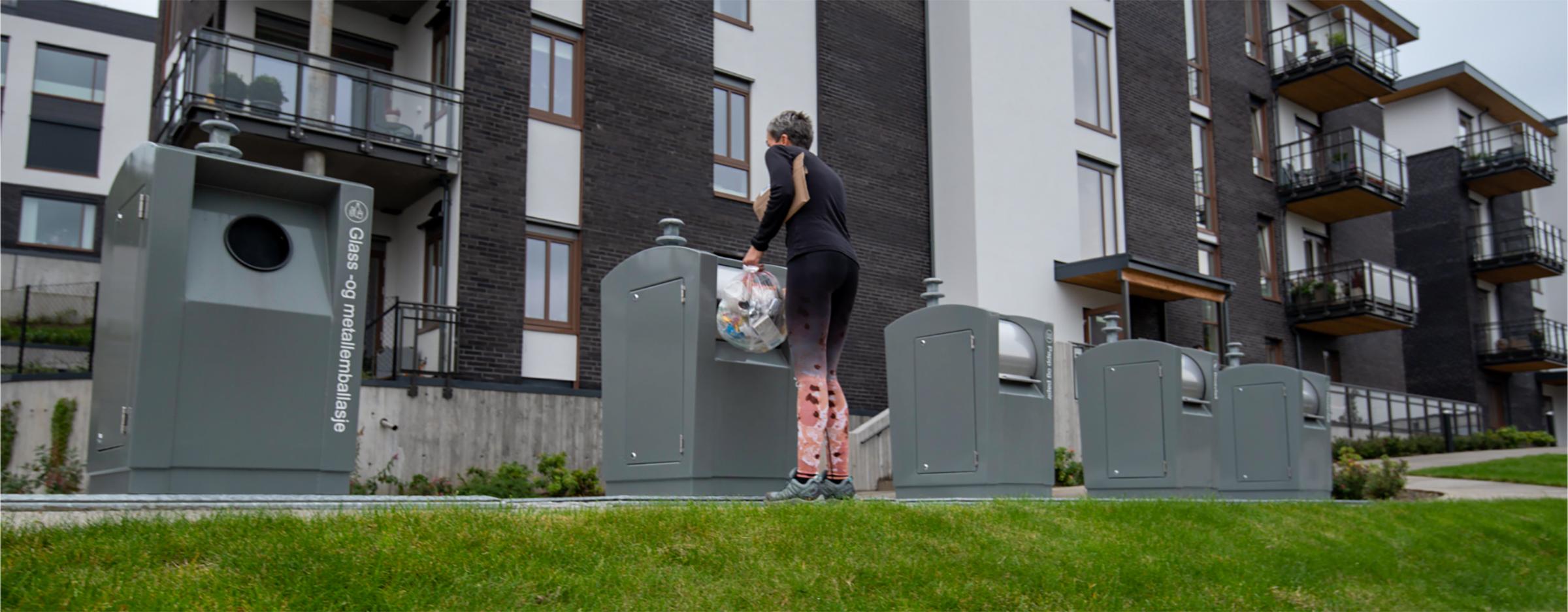 Nedgravd container - Amalienborg i Vågsbygd